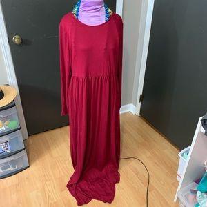 NWOT Fall Maxi Dress